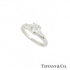Tiffany & Co. Diamond PlatinumRing 1.17ct H/VVS2